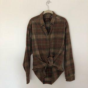 Vintage Plaid Button Down Shirt SzL